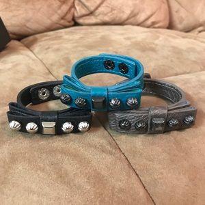 Jewelry - Faux leather bracelet lot of 6